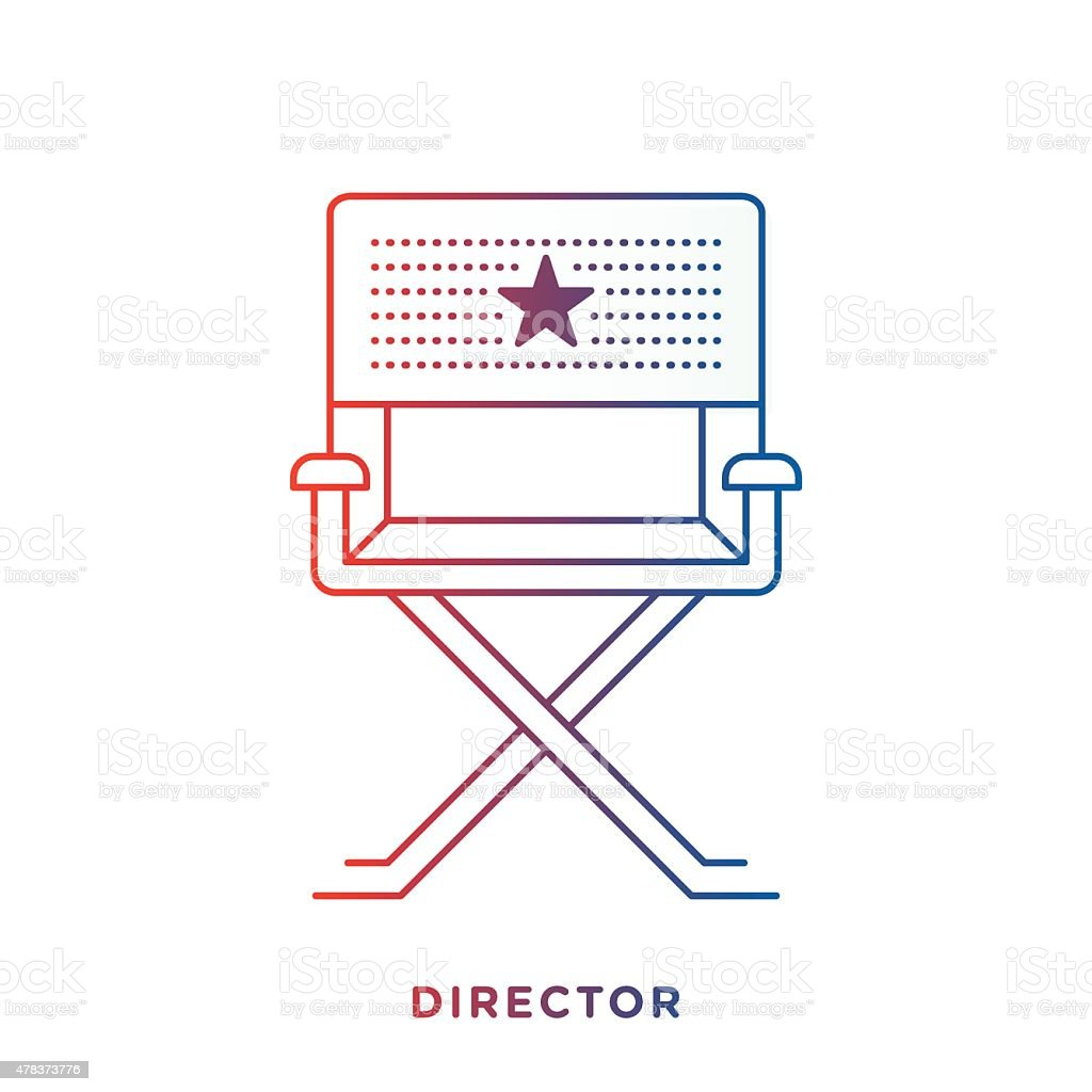 Director Chair Symbol vector art illustration