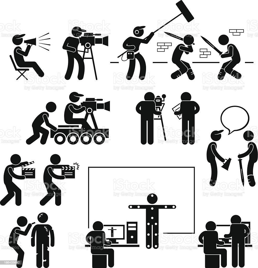 director de hacer rodar actor pictograma la producci243n de