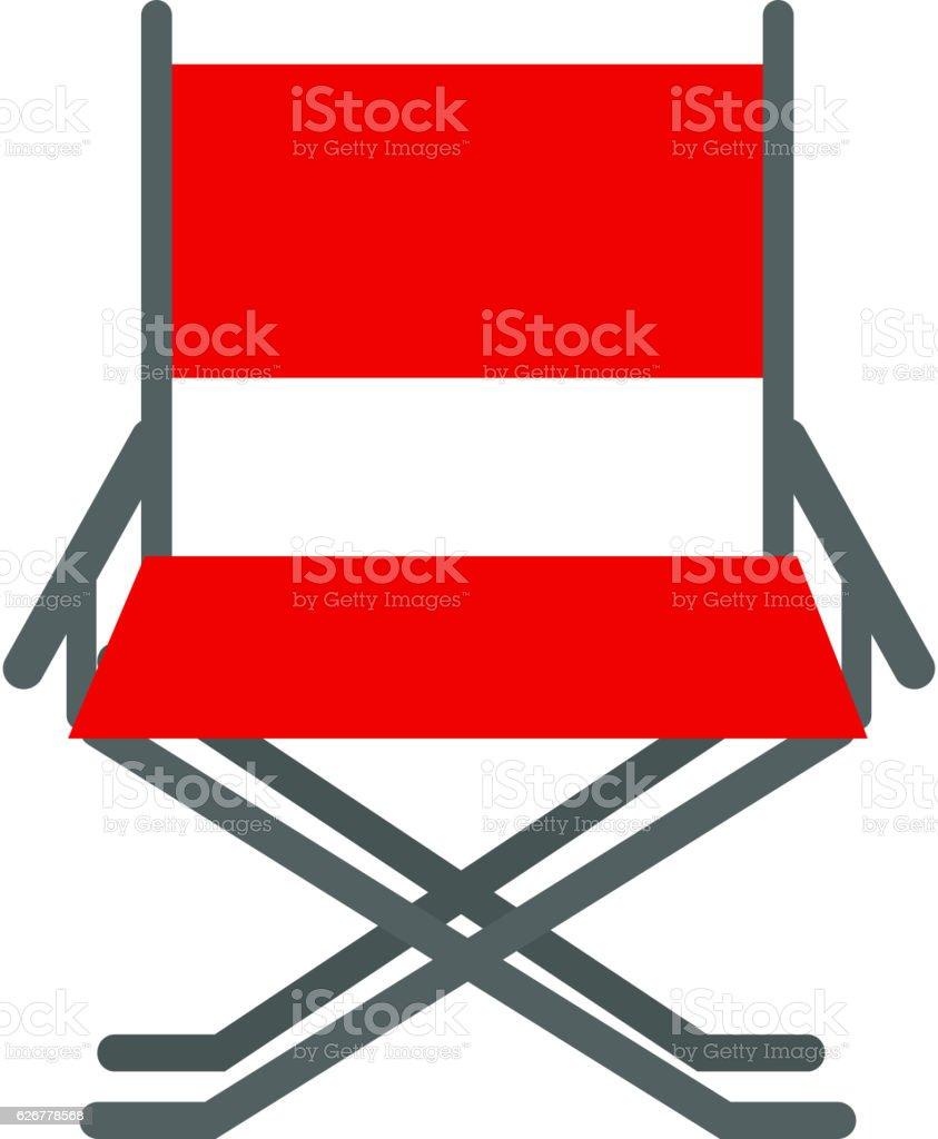 Director movie chair vector. vector art illustration