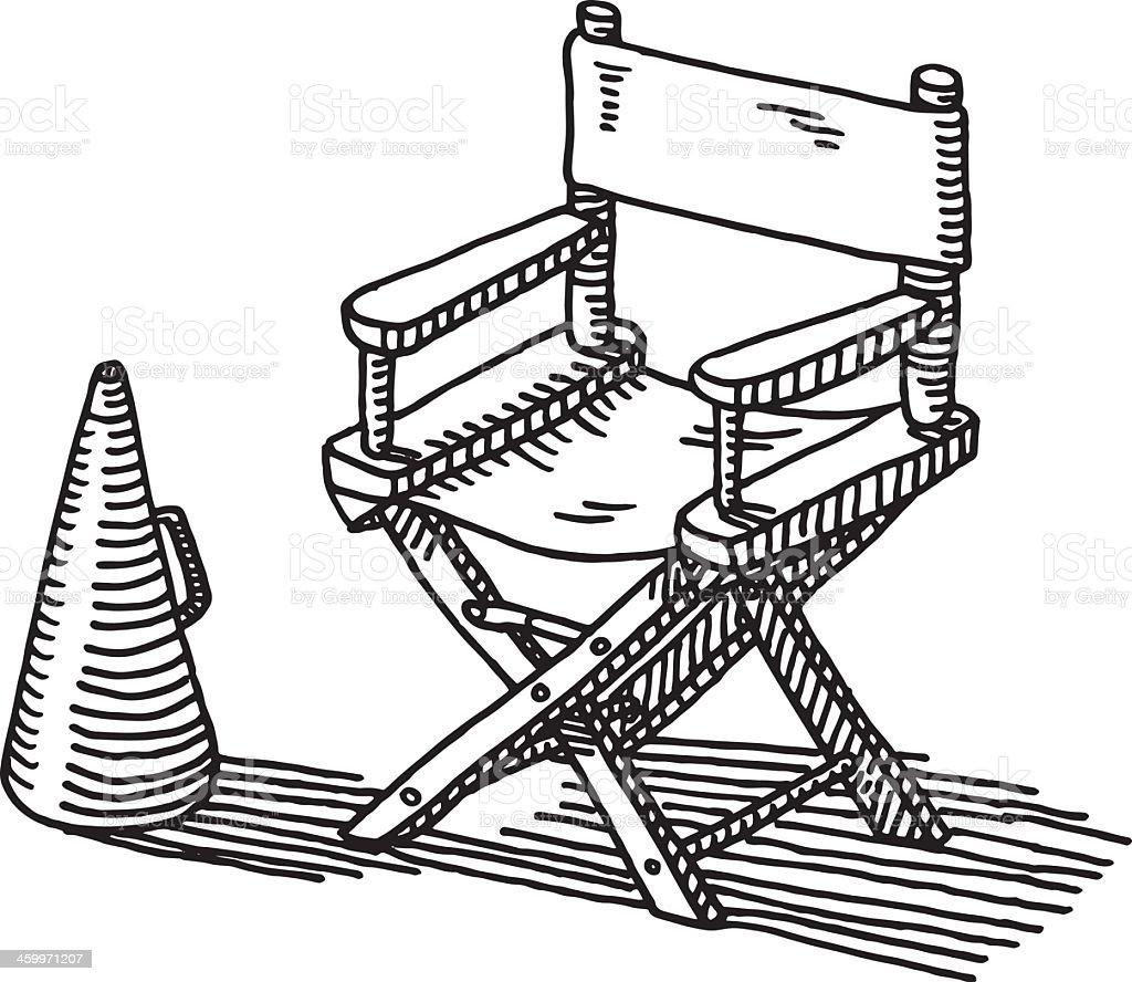 Sedia da regista bullhorn disegno immagini vettoriali - Sedia a dondolo disegno ...