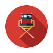 istock Director's Chair Movie Icon 1124226036