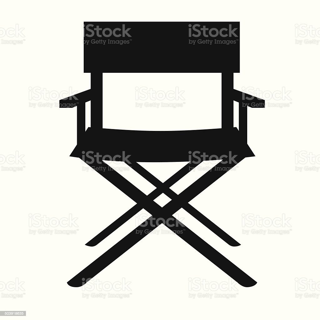 Directors Chair Vector Art Illustration