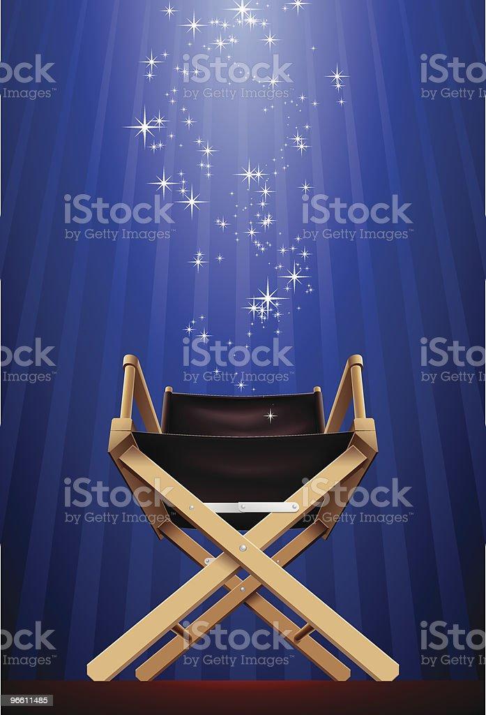 Складной стул из парусины - Векторная графика Без людей роялти-фри
