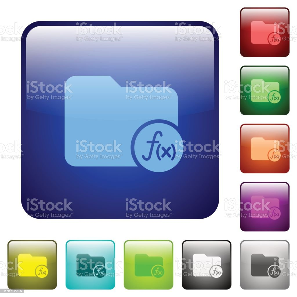 Directory functions color square buttons royalty-free directory functions color square buttons stock vector art & more images of applying