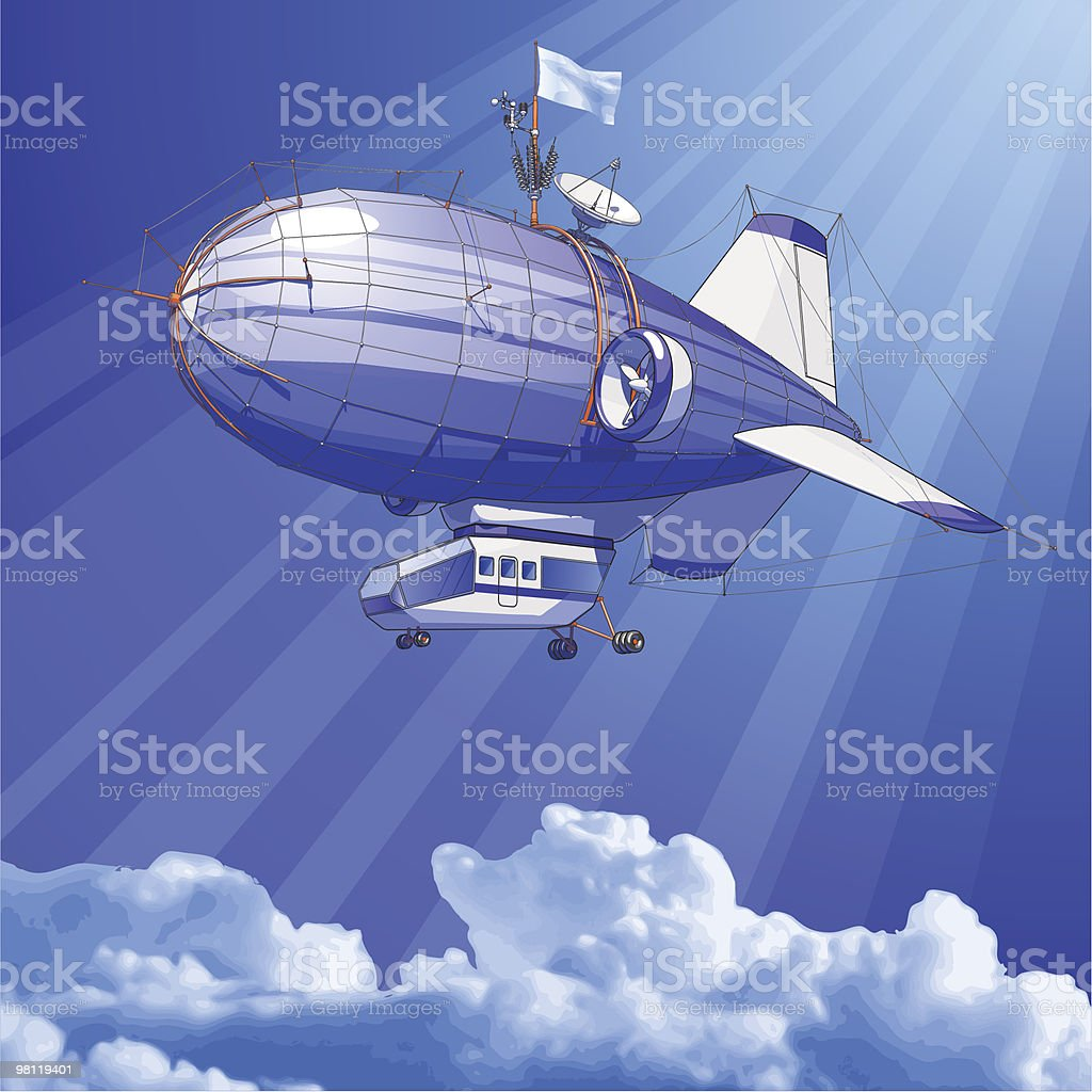 Dirigible balloon royalty-free dirigible balloon stock vector art & more images of blimp