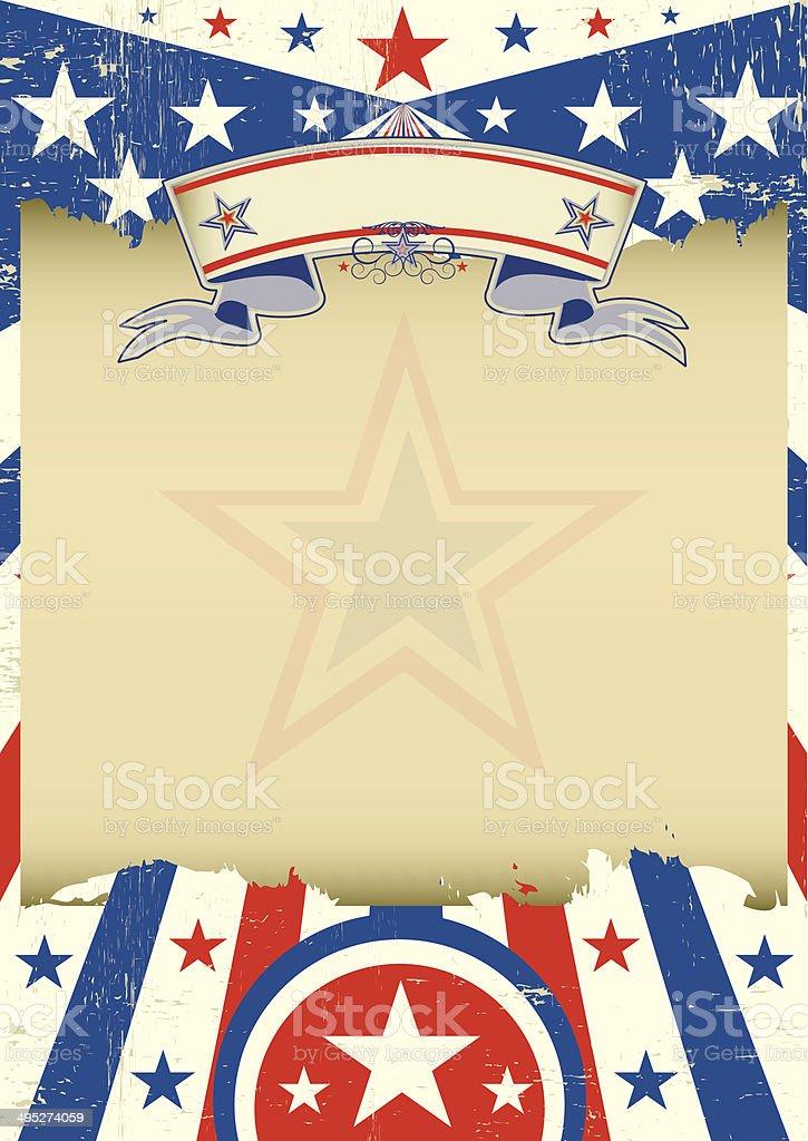 USA dirt background vector art illustration