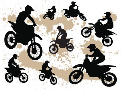 Dirt Bike Silhouettes