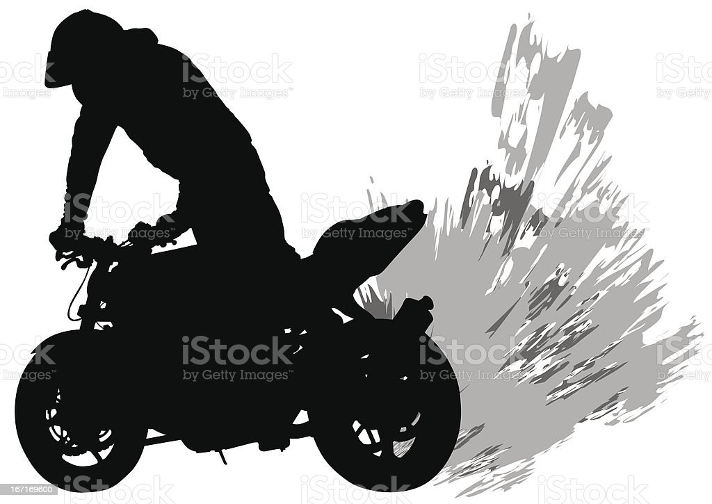 Dirt bike royalty-free stock vector art