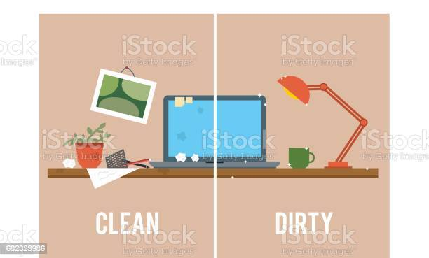 Dirty and clean work table vector id682323986?b=1&k=6&m=682323986&s=612x612&h=7r8kvytvuznbwuefwxbzmghnaekoxhjm8jo4pnnpho4=