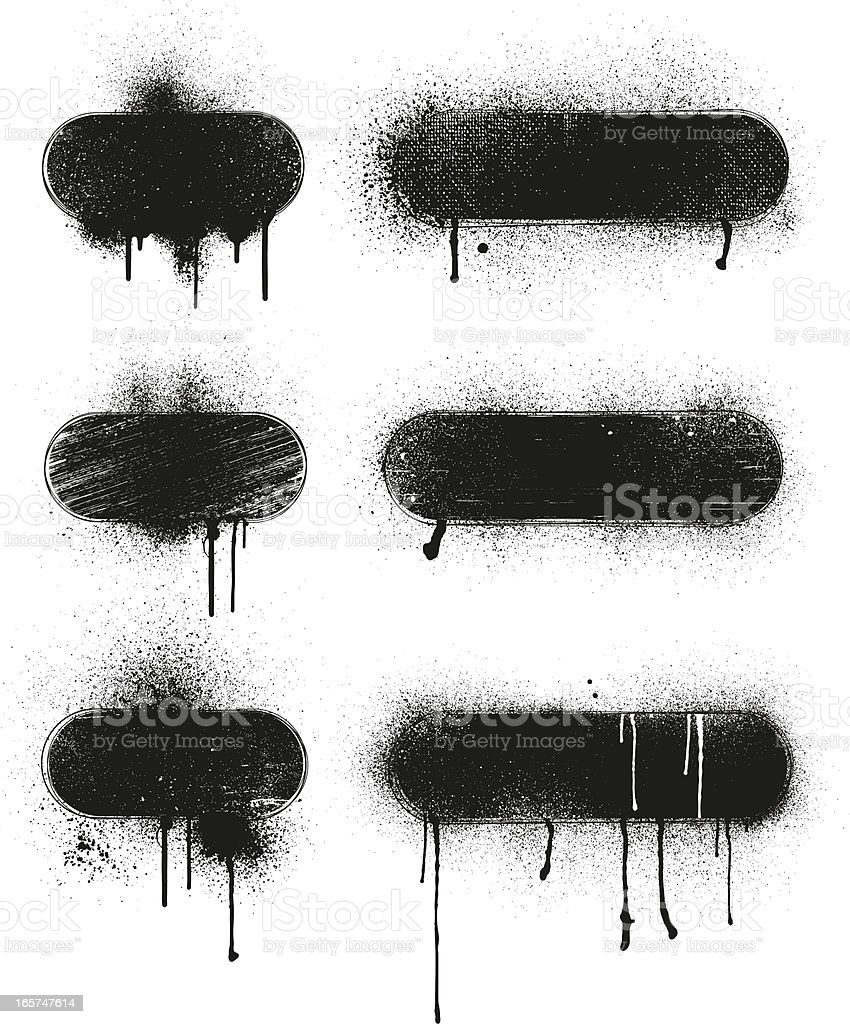 Dirty Banners vector art illustration