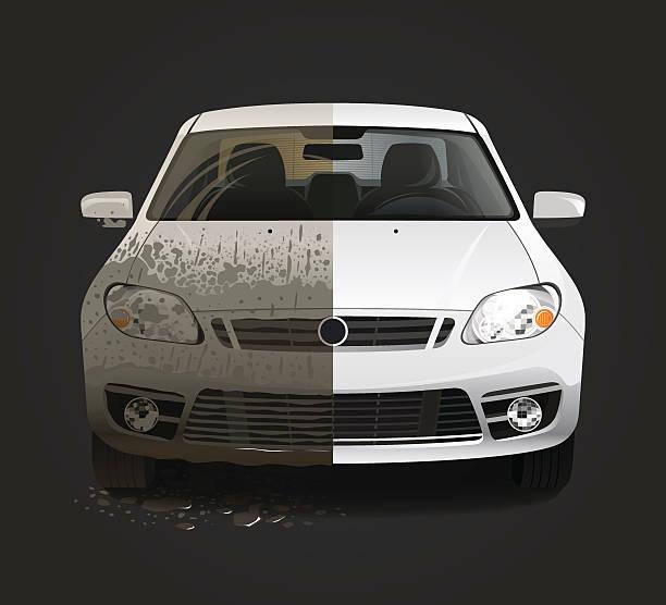 ilustrações de stock, clip art, desenhos animados e ícones de serviço de lavagem de carro sujo - alter do chão