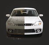 Dirty car wash service
