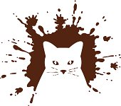 An image of a cat has been made out of a mud splatter. Please check out my other images :)