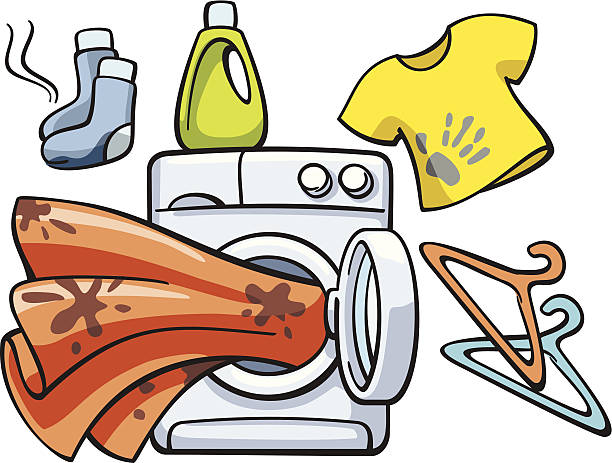 Royalty Free Dirty Laundry Clip Art, Vector Images ...