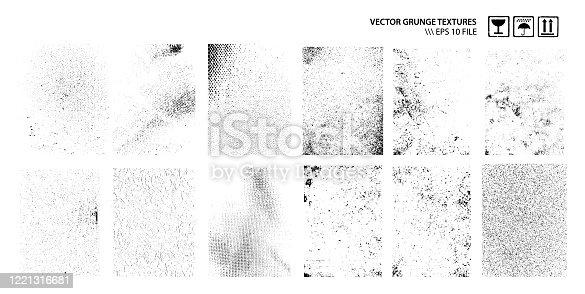 istock Dirty Grunge Textures Vector Set 1221316681