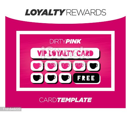 Dirty Pink Incentive Bonus Rewards Card Program for Free Client Loyalty Gifts