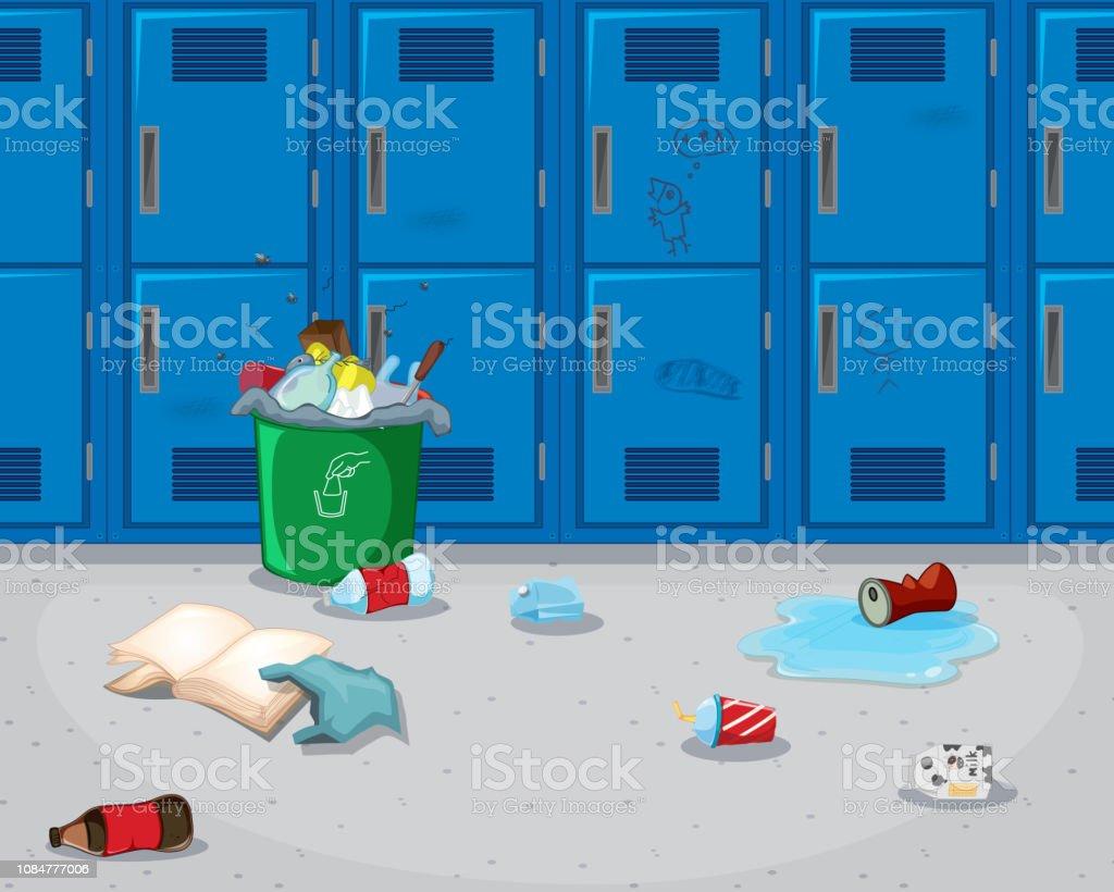 schmutzige schule flur hintergrund lizenzfreies schmutzige schule flur hintergrund stock vektor art und mehr bilder von