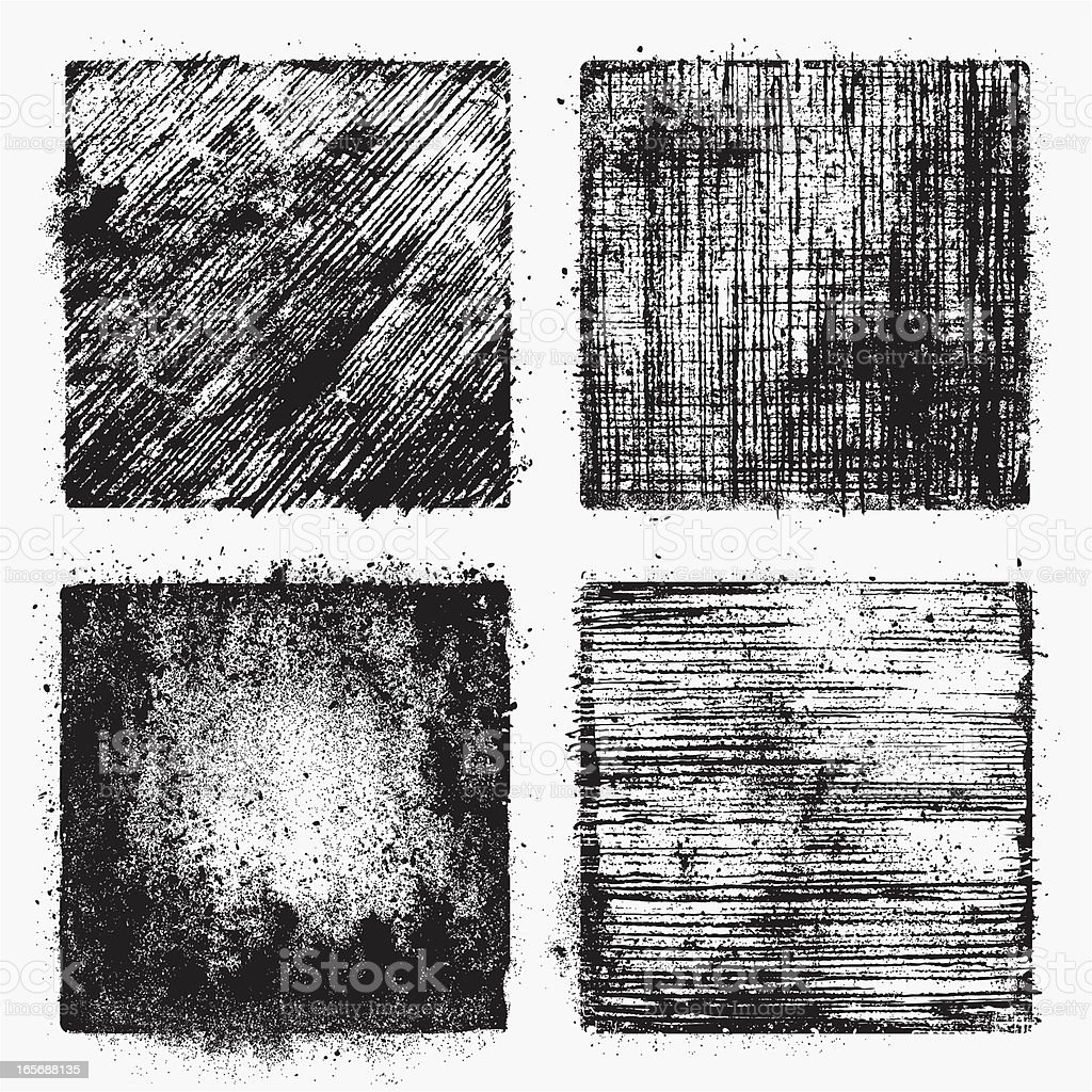 Dirty Vector Textures royalty-free stock vector art
