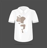 Dirty white t-shirt. Dirty White Shirt Vector illustration.