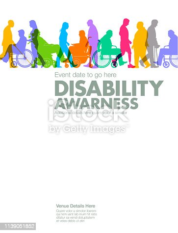 Group of people representing a diverse range of Disabilities in society