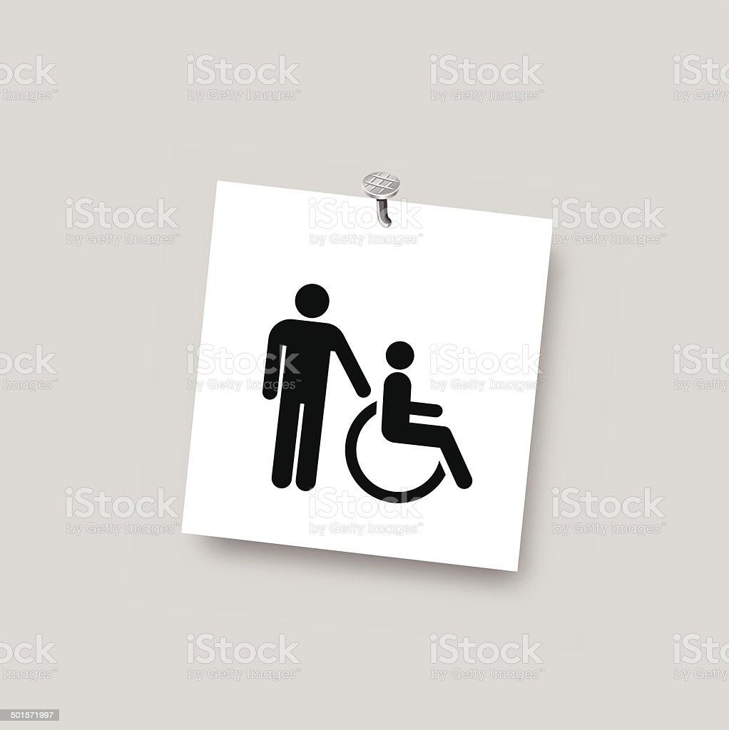 disability care vector symbol vector art illustration