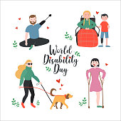 Disability Concept Vector Illustration
