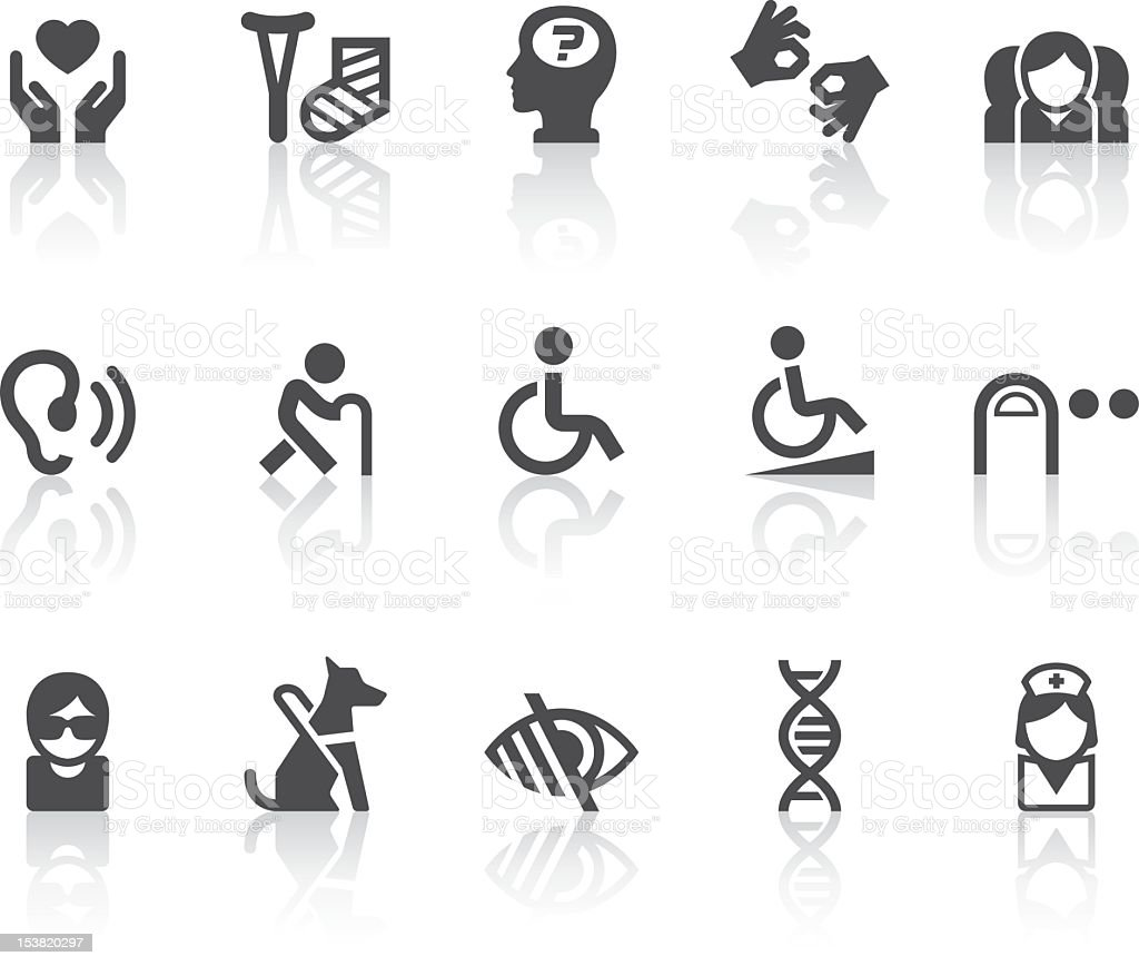 Disability Icons | Simple Black Series vector art illustration