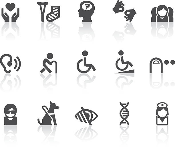 illustrations, cliparts, dessins animés et icônes de handicap icons/simple noir series - handicap