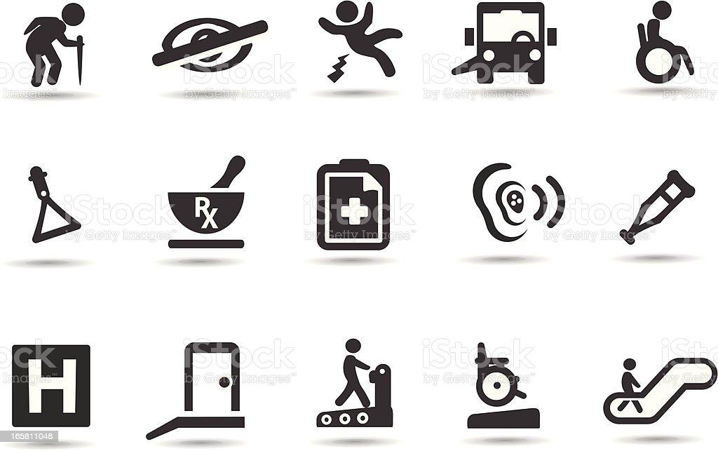 Barrierefreie Symbole – Vektorgrafik