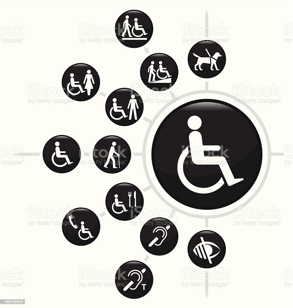 Disability vector art illustration