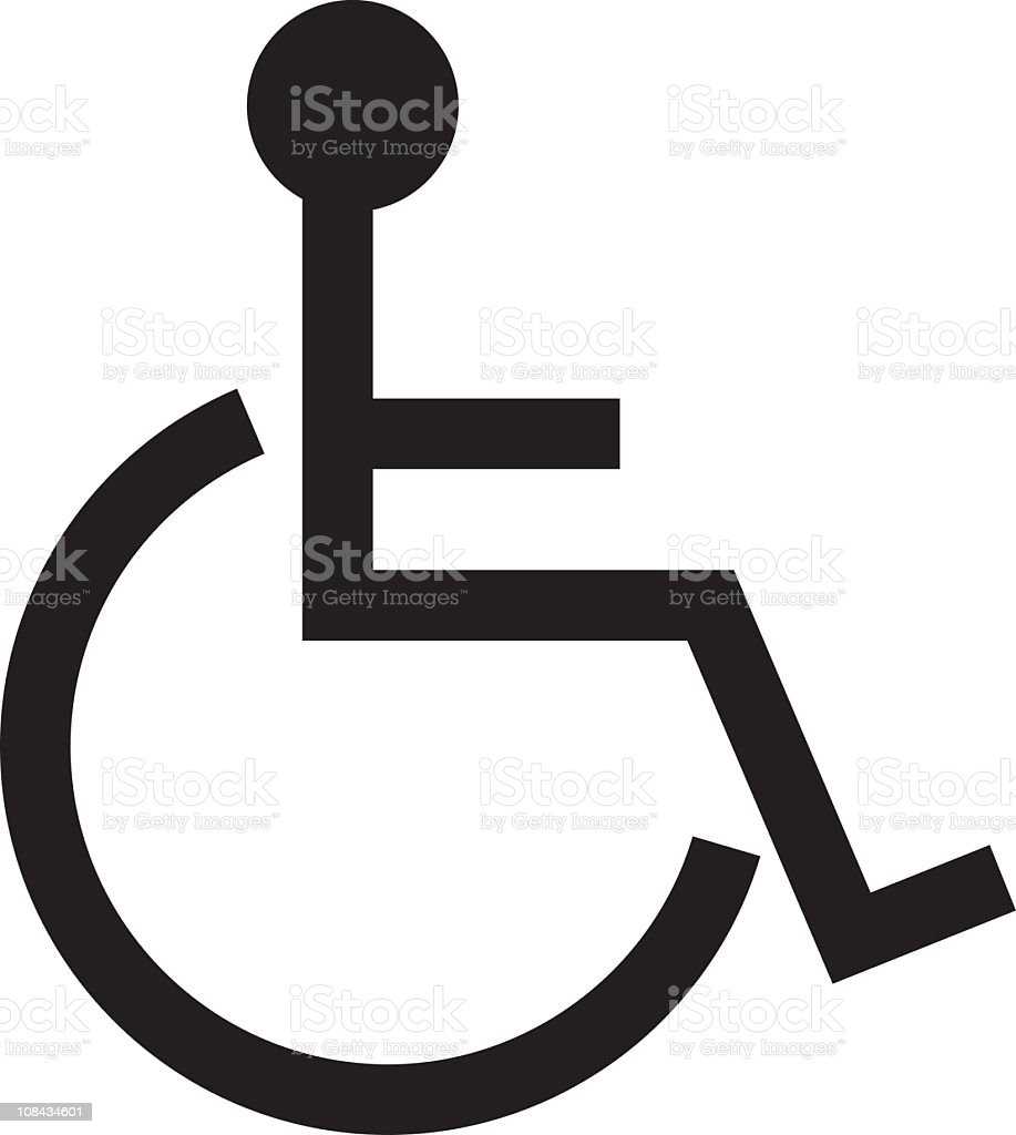 Disable symbol - vector vector art illustration