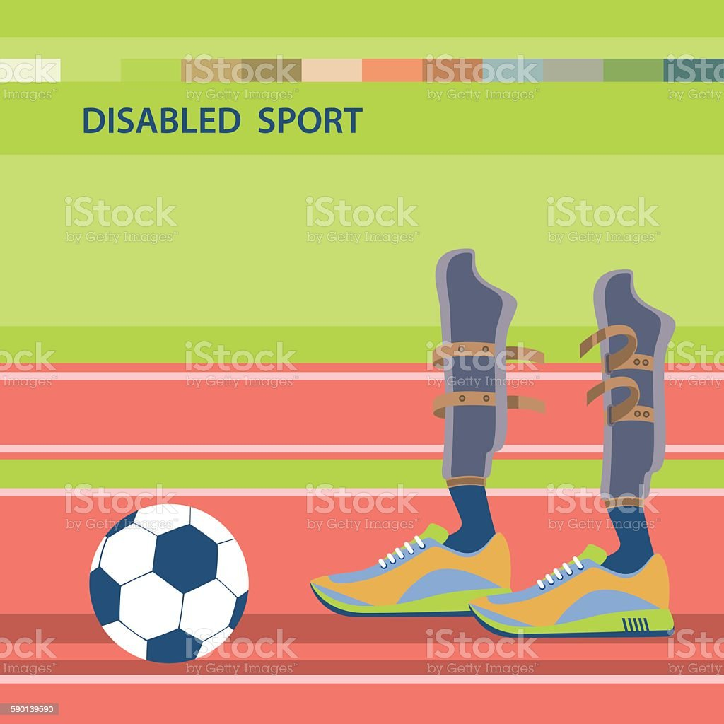 Disabled athletes sport competition vector art illustration