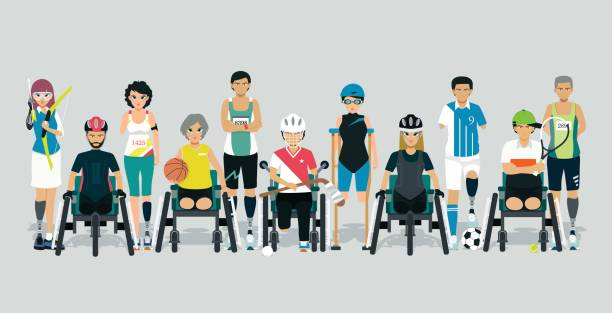 disabled athletes - wheelchair sports stock illustrations, clip art, cartoons, & icons