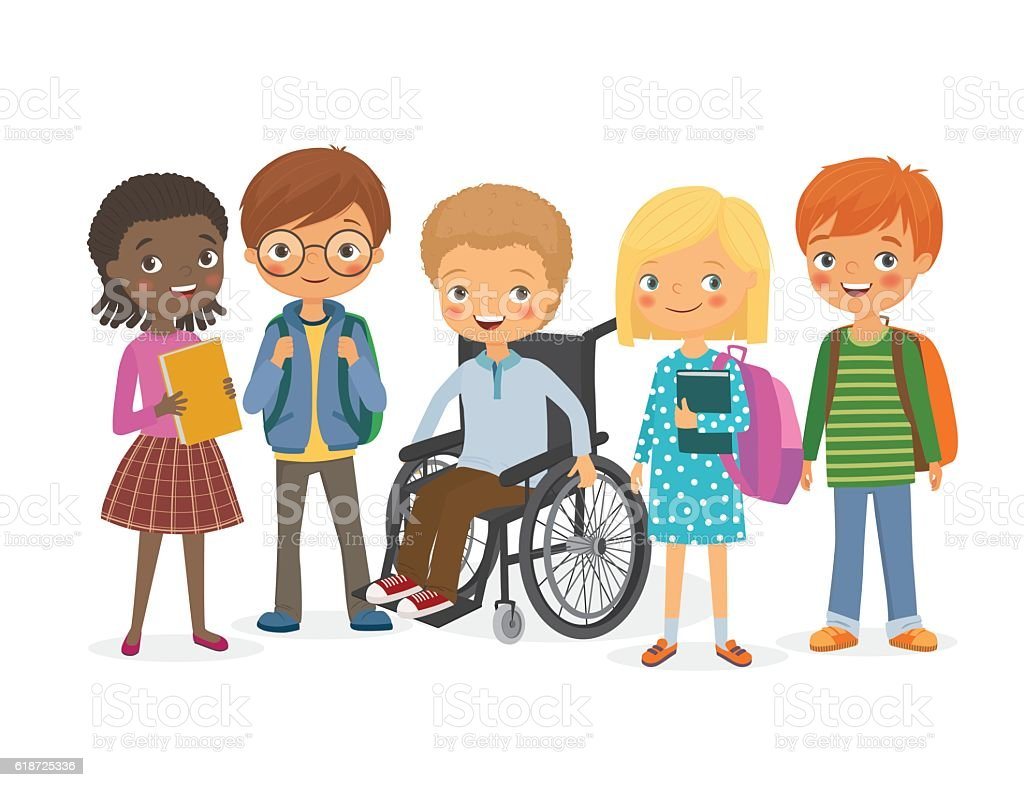 the need to treat disabled children the same as other students in school The need to treat disabled children the same as other students in school.