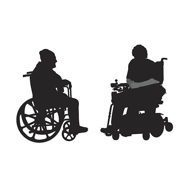 disabled elderly friends - 老年医学点のイラスト素材/クリップアート素材/マンガ素材/アイコン素材