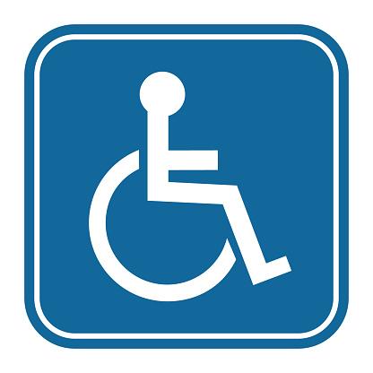 Disabled Handicap Icon. Invalid symbol. Vector illustration