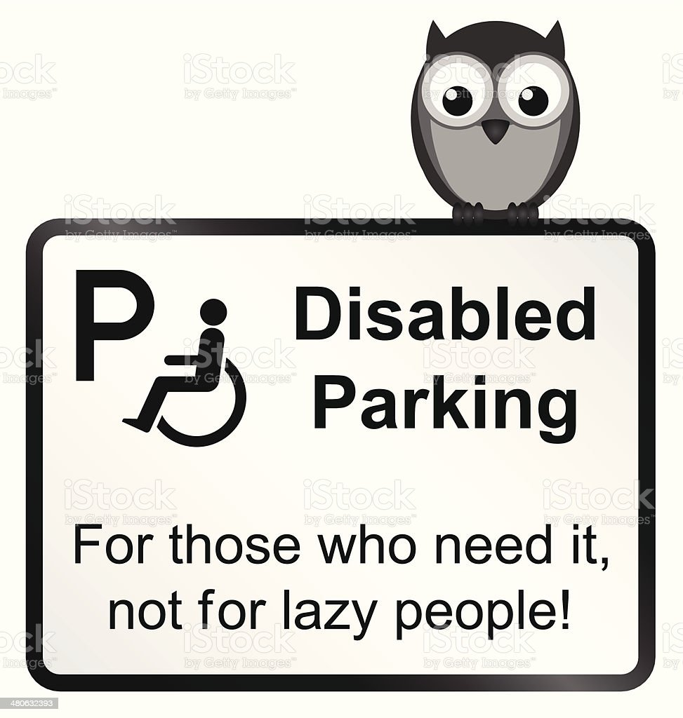 Disabled Parking royalty-free stock vector art