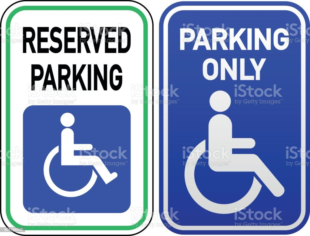 Disabled Parking vector art illustration