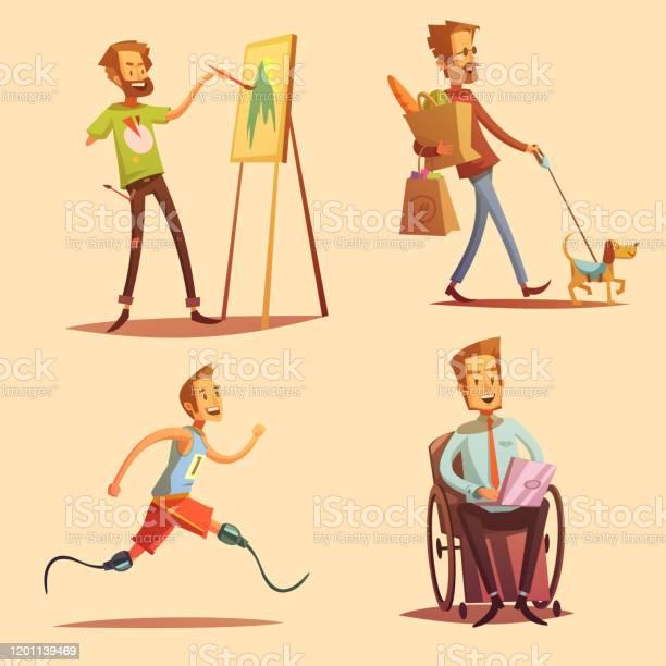 Disabled people retro cartoon vector id1201139469?b=1&k=6&m=1201139469&s=612x612&h=vqjo8audfmzdzsws mdl8pkznlidmjt dmxrticdchg=