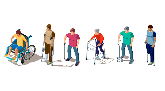 Disabled people with leg or back injuries
