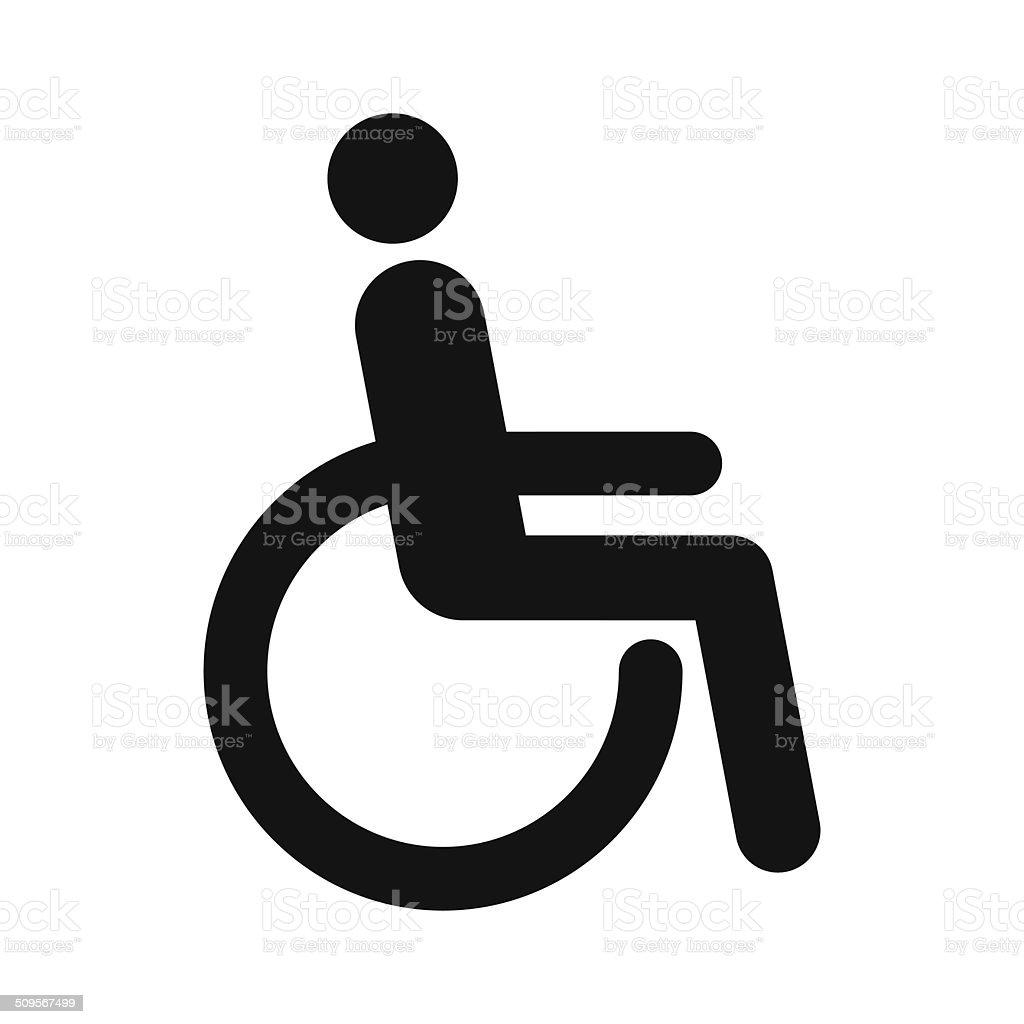 Disabled sign vector art illustration