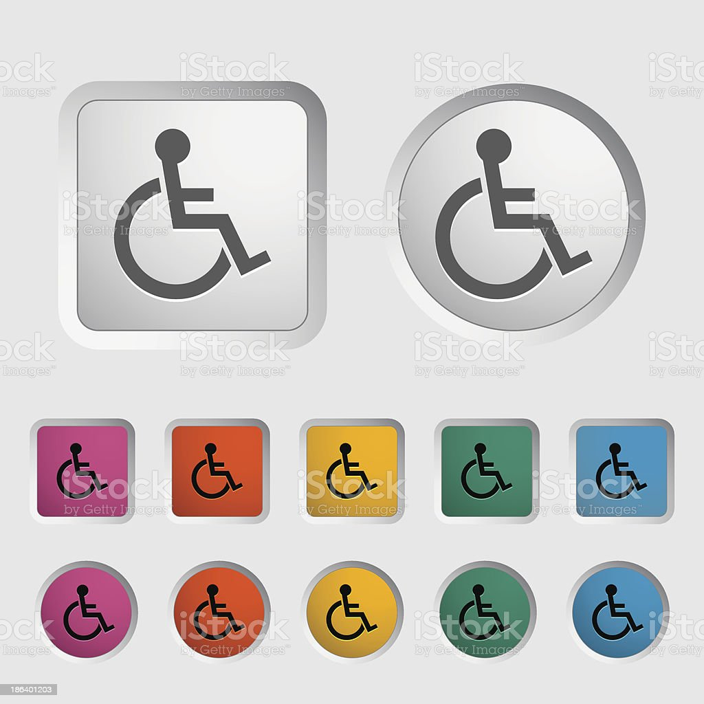 Disabled single icon. royalty-free stock vector art