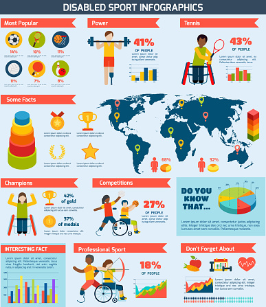 disabled sports infographics