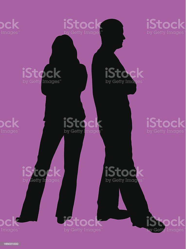 Disagreement or Divorce ( Vector ) royalty-free stock vector art