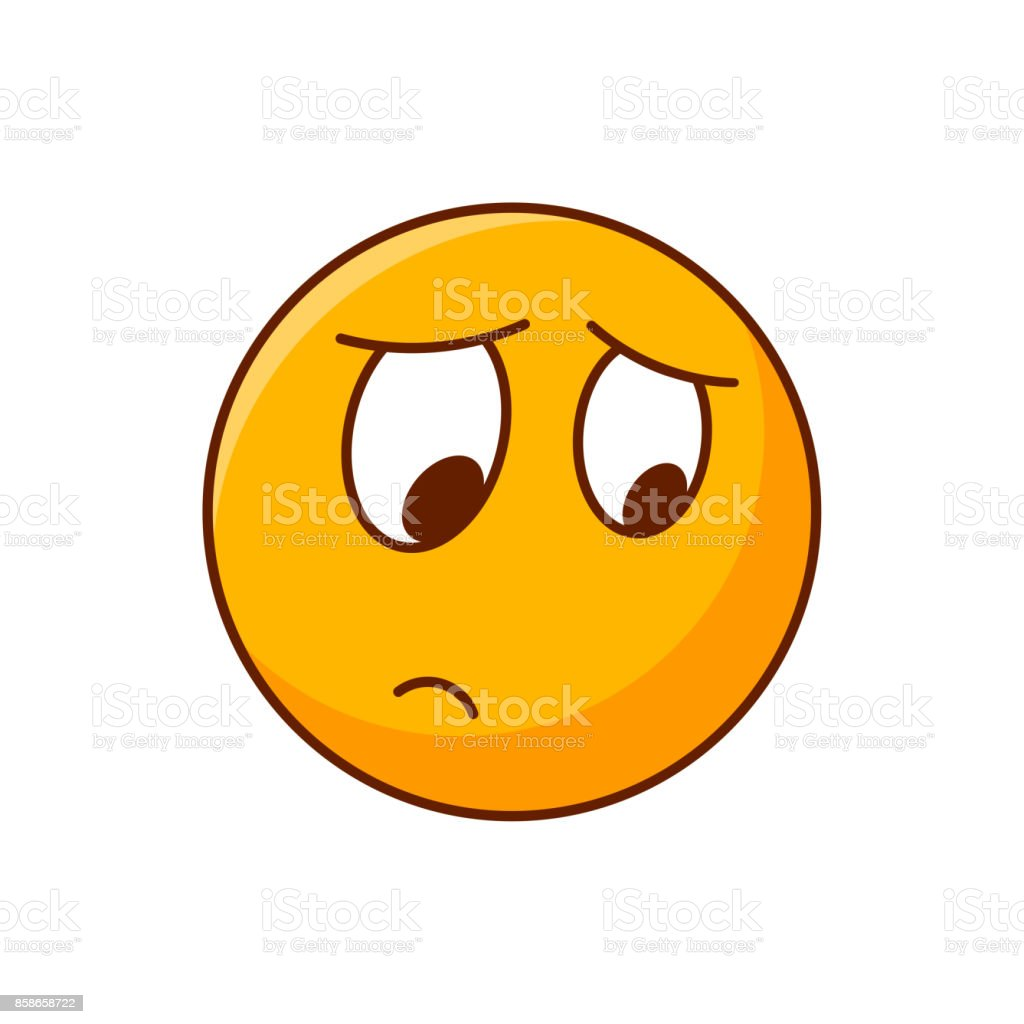 disappointed emoji vector emoticon yellow smiley stock vector art rh istockphoto com smiley vector png smile vector black vector