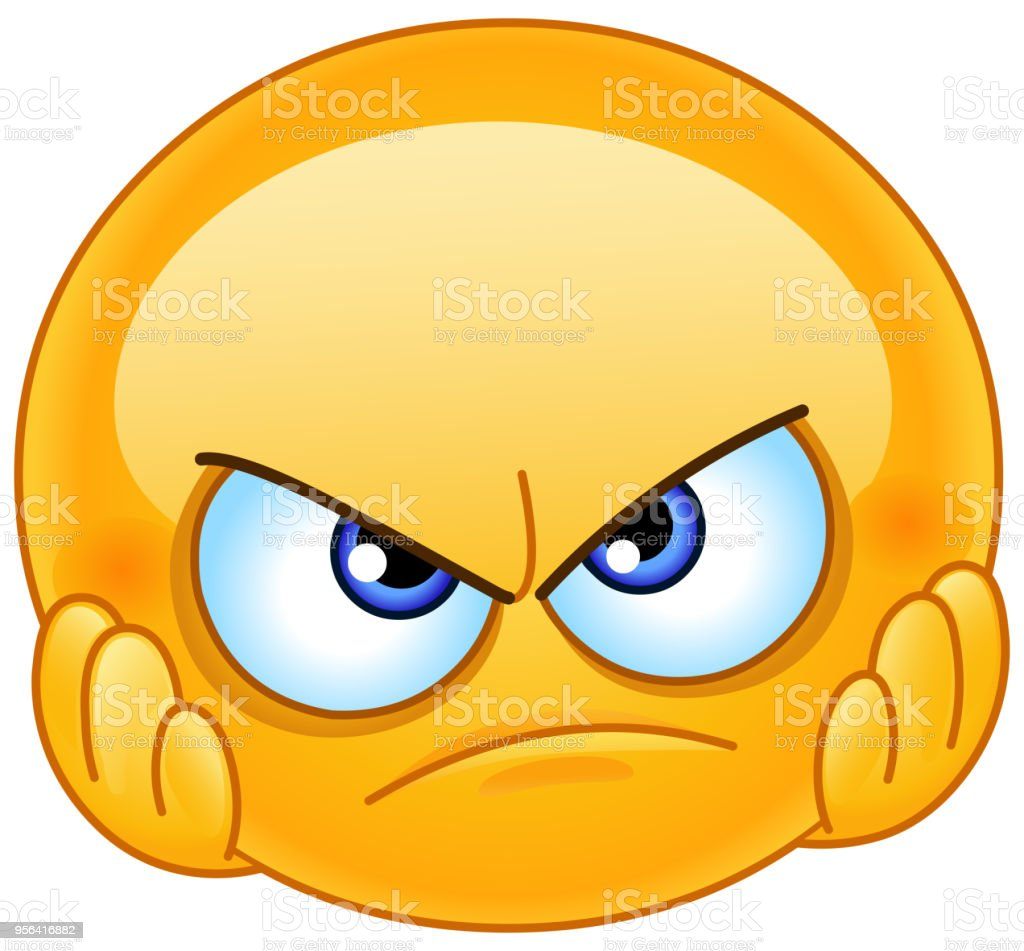 Disappointed emoticon vector art illustration
