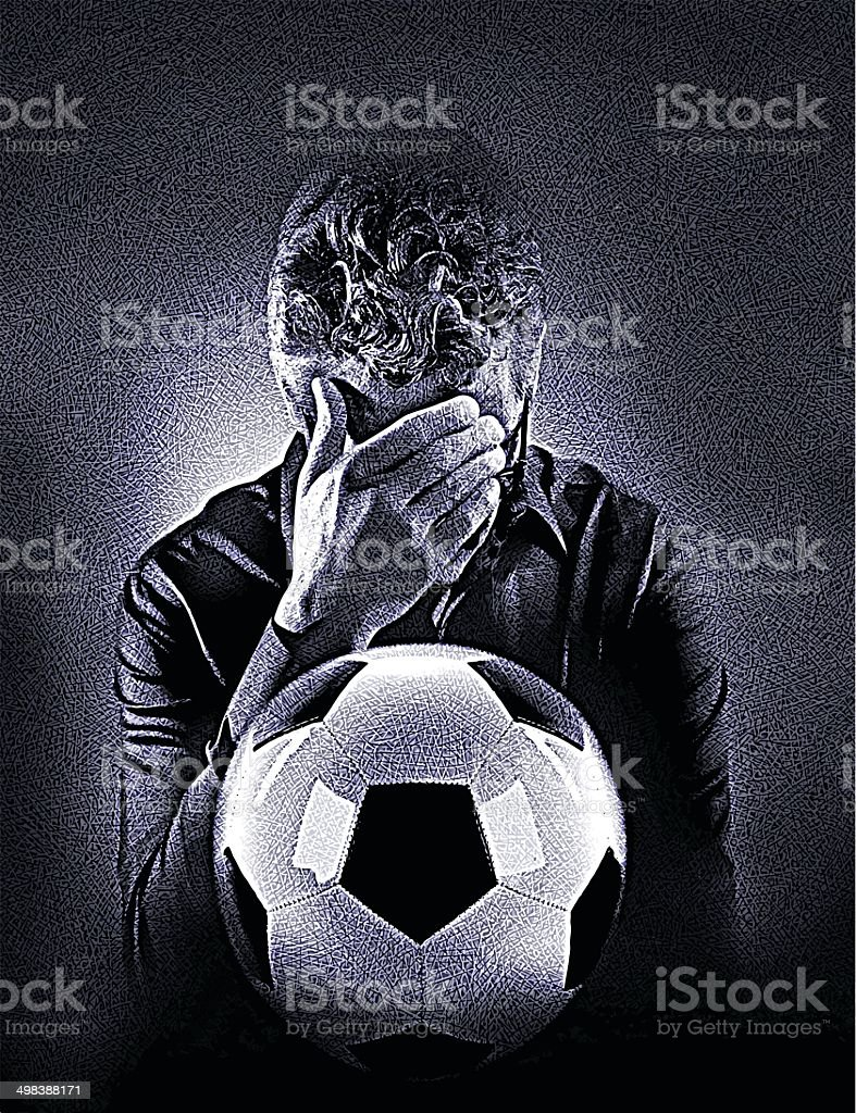 Disappointed Soccer Fan royalty-free stock vector art