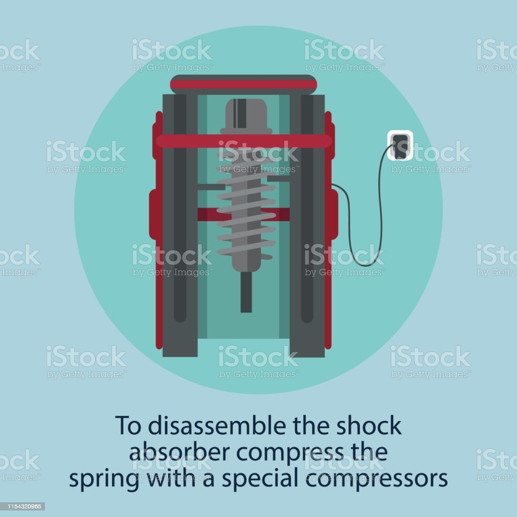 Disassemble Stock Absorber Compress Car Service Stock