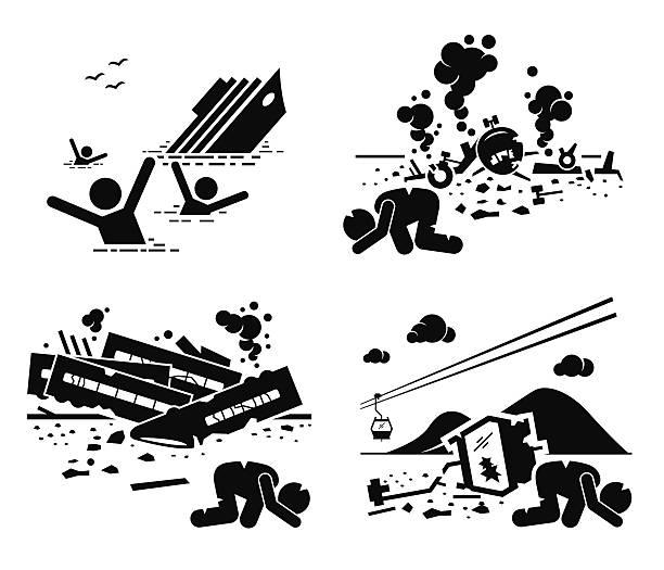 katastrophe unfall tragödie schiff, flugzeug, zug cable car - gesunken stock-grafiken, -clipart, -cartoons und -symbole