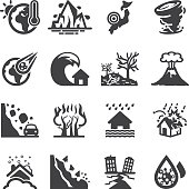 Disaster Accidents Silhouette Icons | EPS10